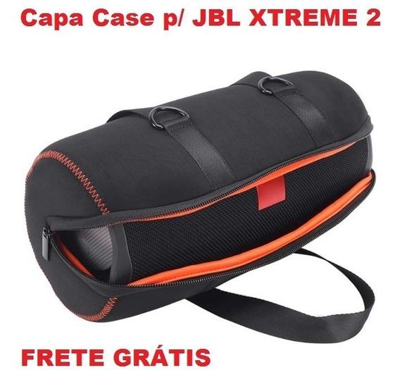 Capa Case Jbl Xtreme 2 Neoprene Eva Com Bolsa/acessórios Top