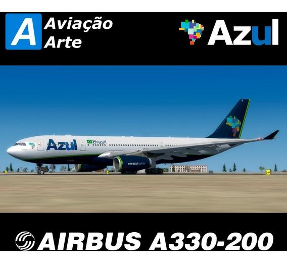 Aeronave Fsx - Frota Azul - Airbus A330-200