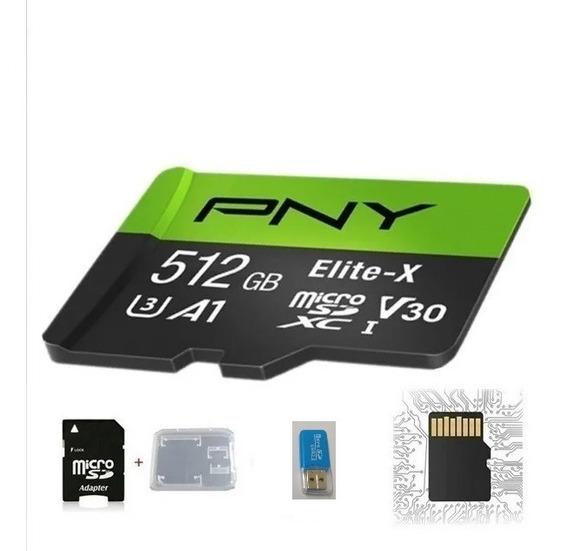 Cartão De Memória Pny-elite X De 512gb+adaptador Usb Oem