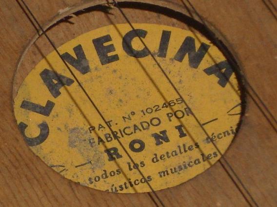 Antigua Citara Clavecina De 13 Cuerdas Muy Buena Mira Video