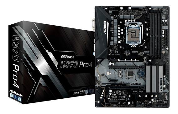 Motherboard Asrock H370 Pro4 Intel 8va 9na Gen Ddr4 Logg