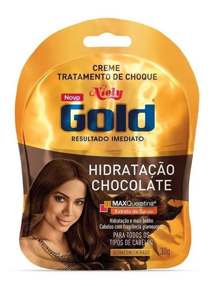 Niely Gold Sachê Tratamento De Choque Chocolate