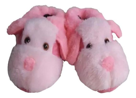 Pantufa Cachorro Pink Adulto Infantil Promoção Barato