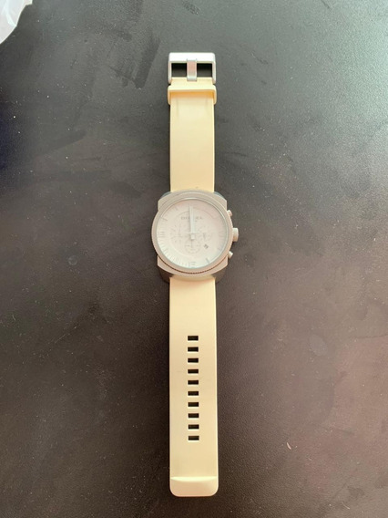 Relógio Original Diesel Branco - Funcionamento Ok