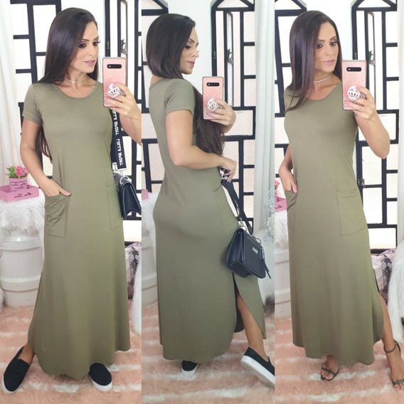 Vestido Longo De Malha