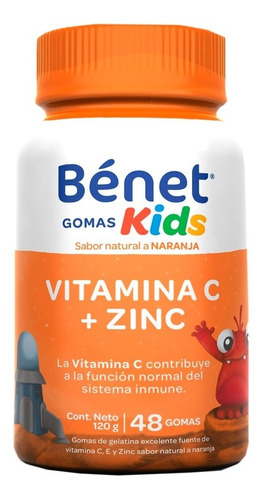 Bénet Gomas Kids Vit C + Zinc 120g
