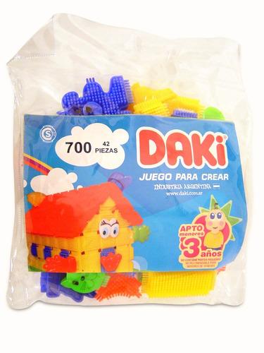 Daki Bolsa 700 Con 42 Piezas Bloques Grandes Original