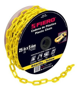 Cadena Plastica 5 Mm X 25 Mt Amarilla Fiero 44172