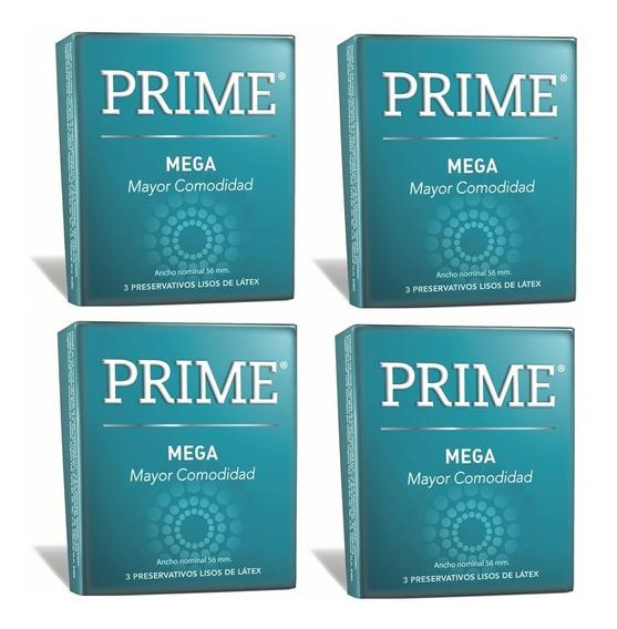 Preservativos Prime Mega Caja X12 Unidades Mas Ancho