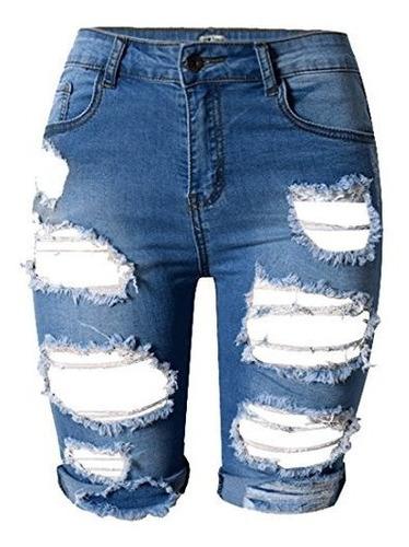 Olrain Pantalones Vaqueros Cortos De Cintura Alta Para Mujer Mercado Libre