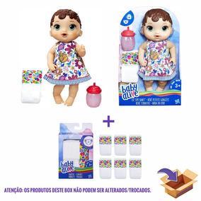 Onetoybox Baby Alive Hora Do Xixi Morena E Fralda