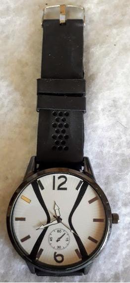 Relógio Unisex Analógico Desenho Ampulheta Pulseira Silicone