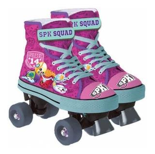 Patins Quad Roller 04 Rodas Shopkins 4070 Dtc Pink 32