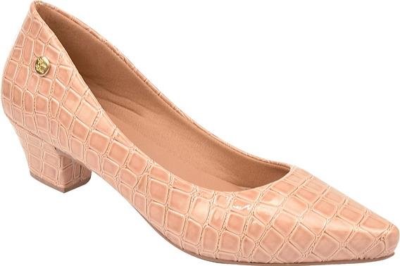 Sapato Feminino Scarpin Salto Baixo Grosso Festa Ref: 36.011