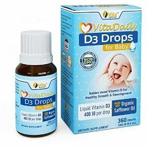 Vita Óptima De Vitamina D3 Gotas Para El Bebé - Orgánico Cer