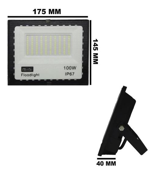 Refletor Holofote Led Smd 100w 6000k (branco Frio) 100a240v Ip66