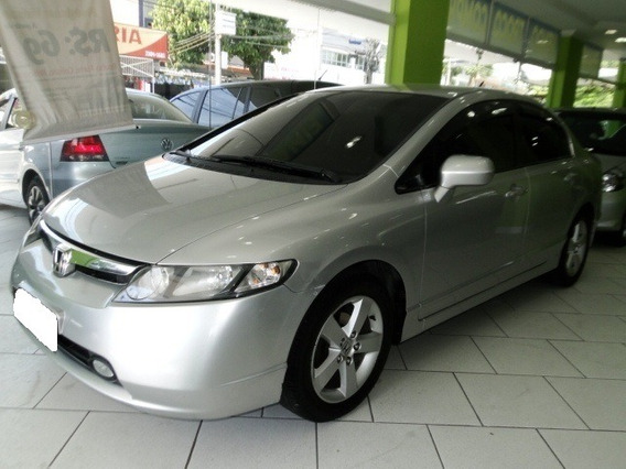Honda Civic 1.8 Lxs 16v Gasolina 4p Manual 2007 Prata