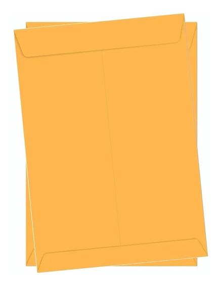 Envelope Kraft Ouro 229x324 50 Unidades Foroni A4 Ofício