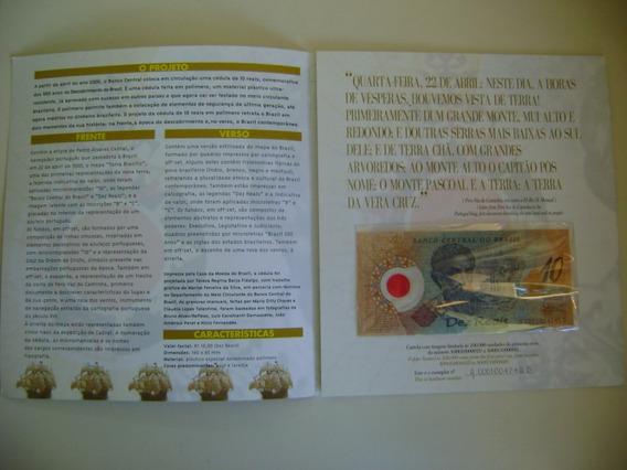 Folder E Cédula 10 Reais Comemorativa Polímero Série 01 Fe