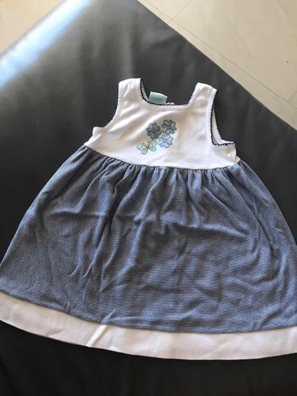 Vestido Algodón Niña Talla 2 Años