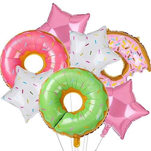 Globos De Aluminio Diseño De Donut/multicolor Marca Pyle