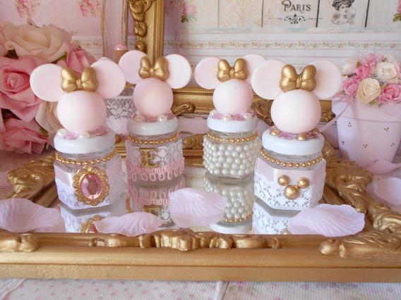 Souvenirs Frasquitos Frascos Minnie Pink & Gold Candy