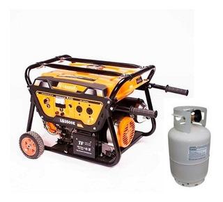 Grupo Electrogeno Generador Nafta Gas 3500 W 6,5hp Lusqtoff