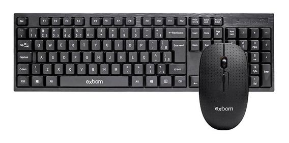 Kit Sem Fio Teclado Com Mouse 2.4g Usb Abnt Ii - Padrão Bras