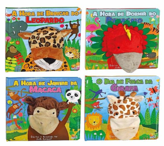 Coleção Fantoche: Leopardo, Papagaio, Macaca, Girafa (4vol.)