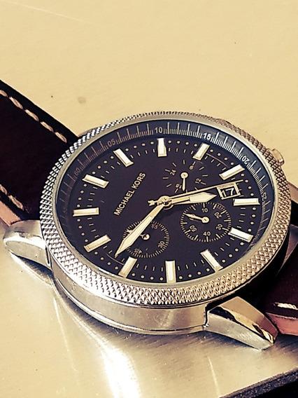 Relógio Michael Kors Cronógrafo Masculino Italiano = Seiko