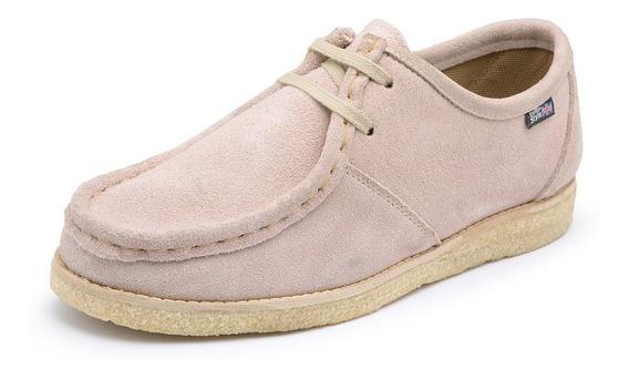 Sapato Em Couro Camurça Anos 80 Feminino / Masculino