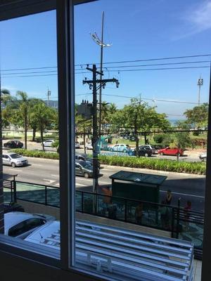 Locação Apartamento De Frente Para O Mar, Bairro Aparecida, Santos/sp - Ap3382