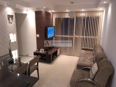 Apartamento Com 3 Dormitórios À Venda, 67 M² Por R$ 410.000 - Vila Gustavo - São Paulo/sp - Ap1091
