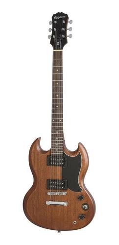 Imagen 1 de 8 de Guitarra eléctrica Epiphone SG Special VE de álamo vintage worn walnut con diapasón de palo de rosa