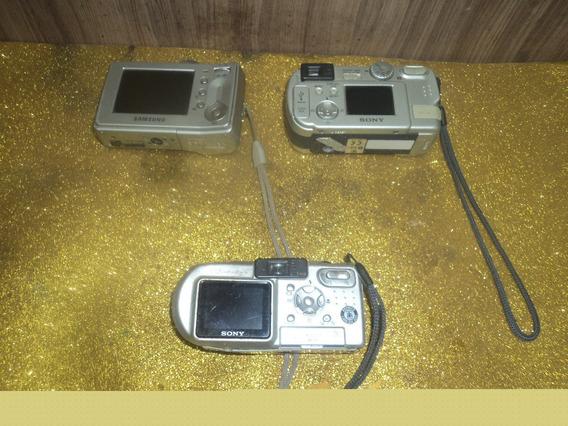 Lote C/ 3 Maguinas Tira Foto Antiga Bom Estado /sem Bateria