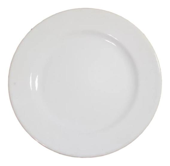 4 Prato Raso De Cerâmica Para Buffet 25 Cm Ref 3302