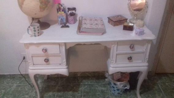 Penteadeira / Escrivaninha Provençal Branca