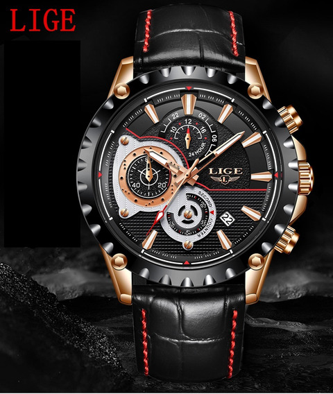 Relógio Masculino Lige 9842 Original Luxo 100% Funcional