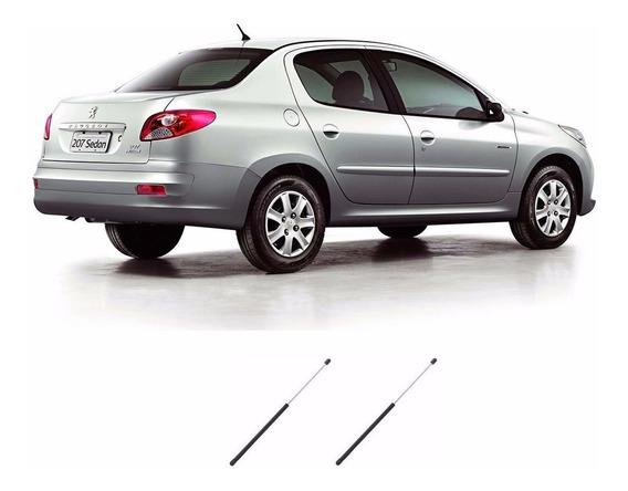 Par Amortecedor Tampa Tras Mala Peugeot 207 Sedan Passion