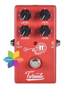 Pedal Nux Hg-6 Twinote Modern Pi Fuzz Distortion High Gain