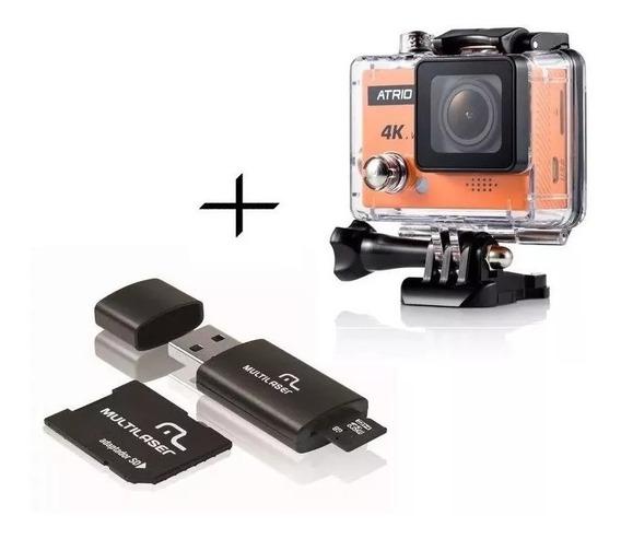 Camera Filmadora Full Hd 4k + Cartão 64gb Classe 10 Dc185