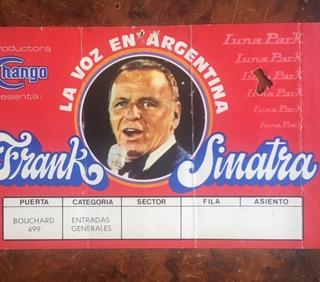 Entrada Frank Sinatra En Argentina 1981 - Luna Park