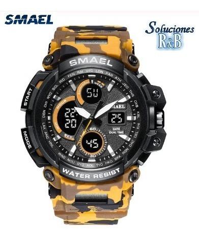 Reloj Deportivo Smael Blanco Camu Hombres 5 Atm Original