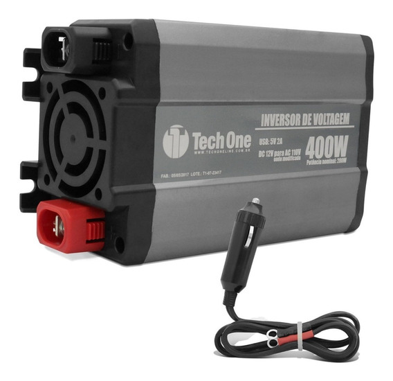 Inversor De Voltagem Tech One 400w 12v Para 110v Modificada