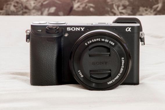 Câmera Sony Mirrorless Alpha A6300 + Lente 16-50mm