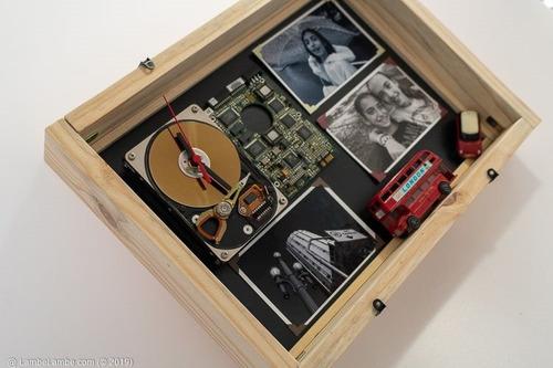 Relógio De Parede Porta Retrato Hdd Conner Reciclagem