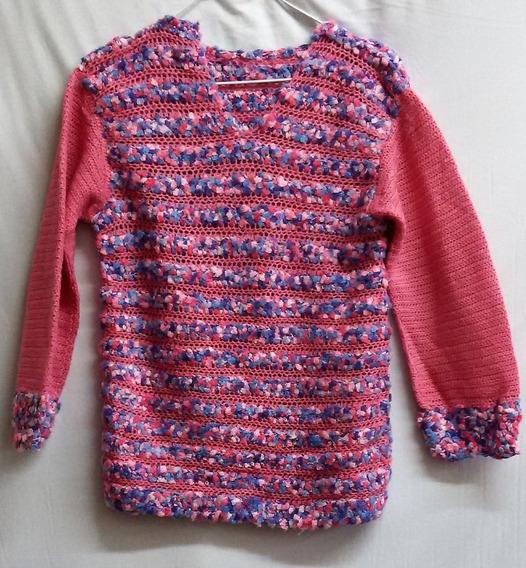 Pullovers Tejido A Mano Niña 6 Años