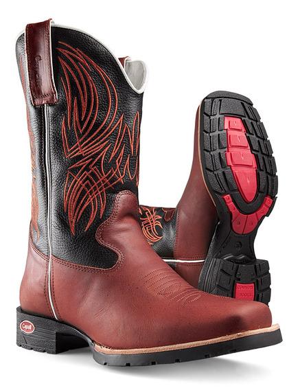 Bota Masculina Texana Country Sola Branca Capelli Boots 8076