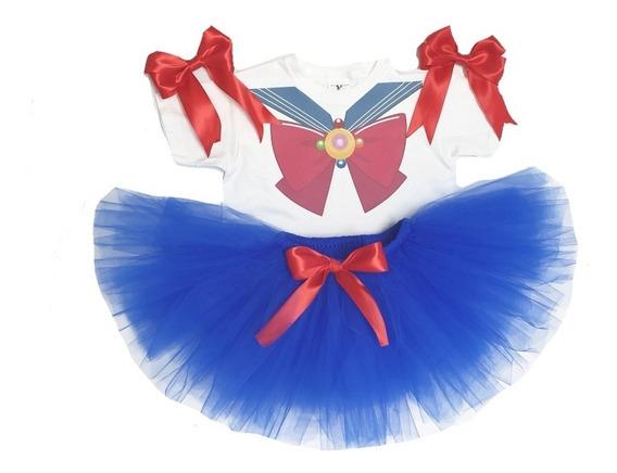 Tutú Disfraz De Niña Inspirado En Sailor Moon Personalizado