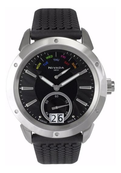 Reloj Nivada Diplomat Nvng30771gacni Hombre Original E-watch